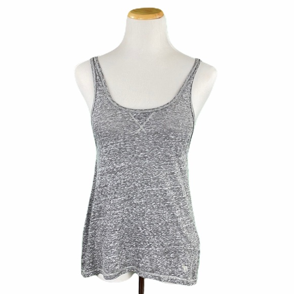 Abercrombie & Fitch Gray Burnout Scoop Neck Tank